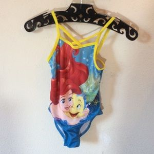 Disney Little Mermaid Flounder Girl's Swim Suit